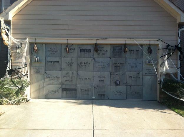 Halloween Garage Door Decoration  Halloween Home & Garage Decorations