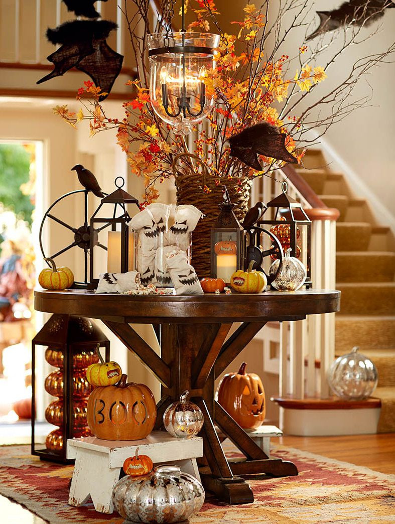 Halloween Home Decor Ideas  Decorate the entryway with pumpkins ghouls and goblins