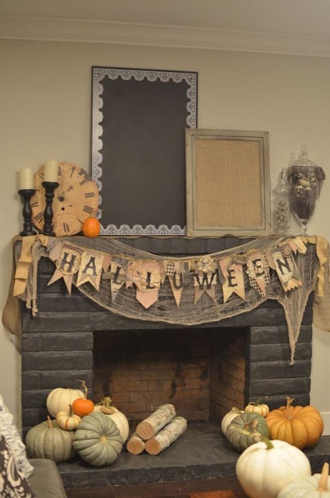 Halloween Home Decor Ideas  33 fy Rustic Halloween Decor Ideas