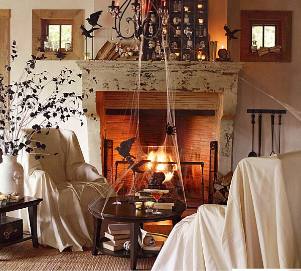 Halloween Living Room Decor  40 Spooky Halloween Decorating Ideas for Your Stylish Home
