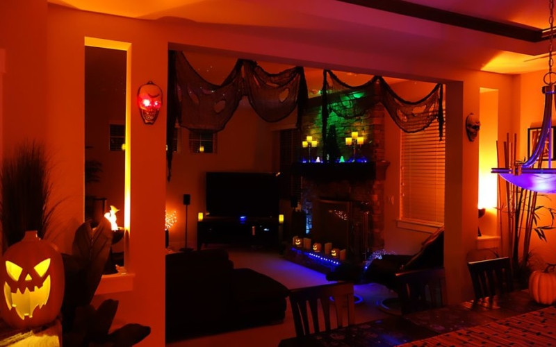 Halloween Living Room Decor  How to give your living room a spooky touch this Halloween