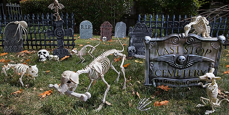 Halloween Outdoor Decorations Clearance  Outdoor Halloween Decorations Halloween Tombstones