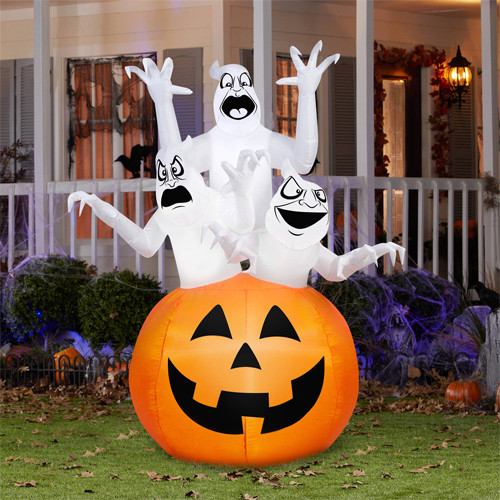 Halloween Outdoor Decorations Clearance  Airblown Ghost Decoration $29 97