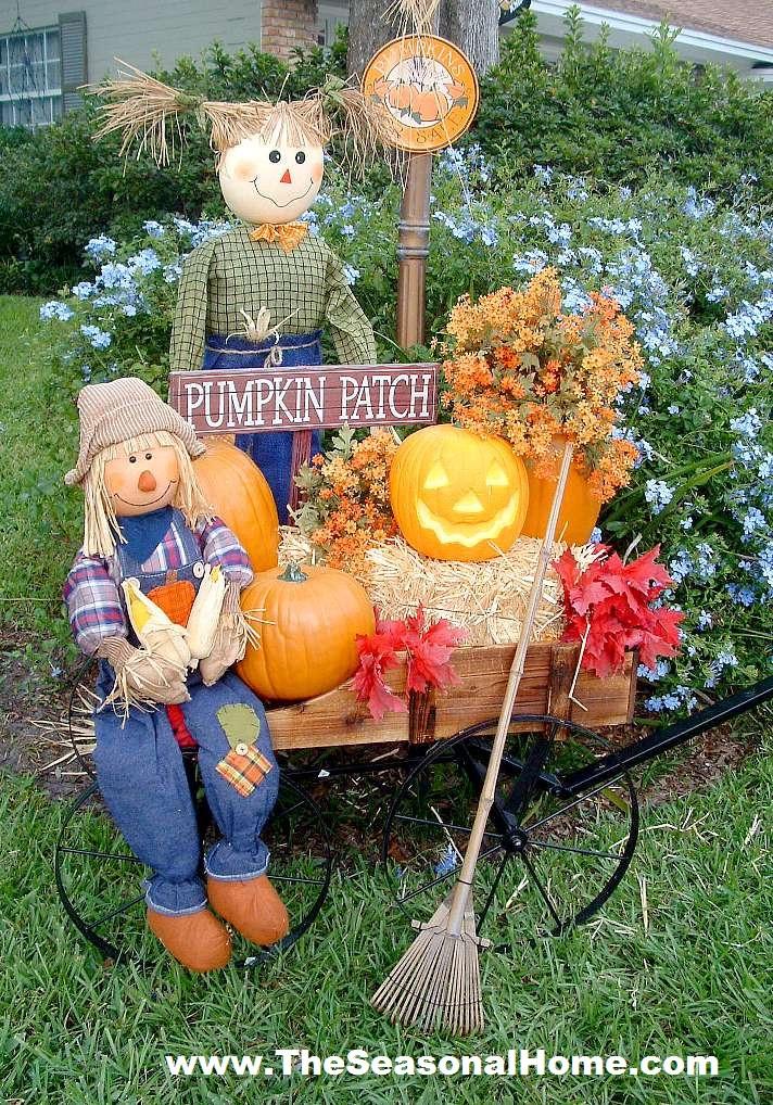 Halloween Outdoor Decorations Clearance  FALL YARD DECORATION IDEAS The Seasonal Home