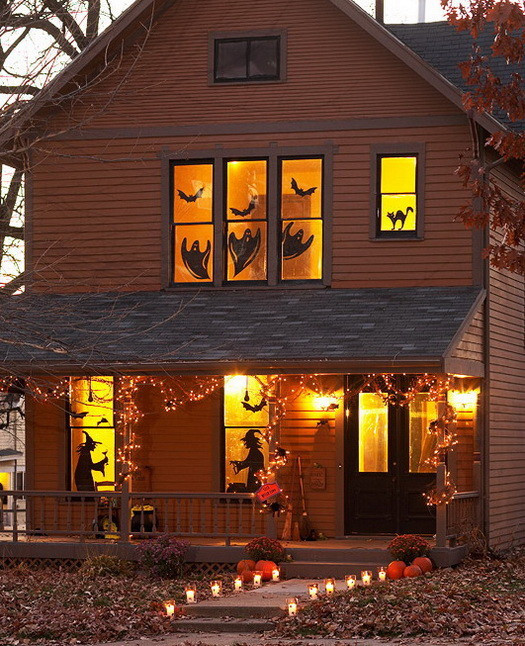 Halloween Outdoor Decorations  34 Scary Outdoor Halloween Decorations And Silhouette