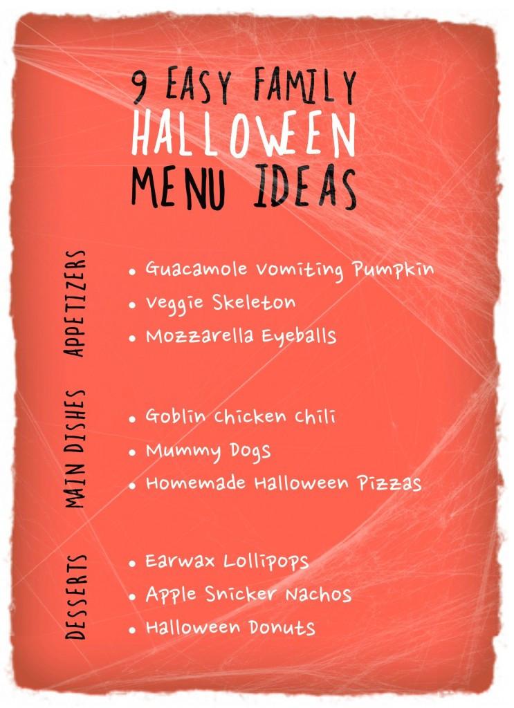Halloween Party Menu Ideas  9 Easy Family Halloween Menu Ideas