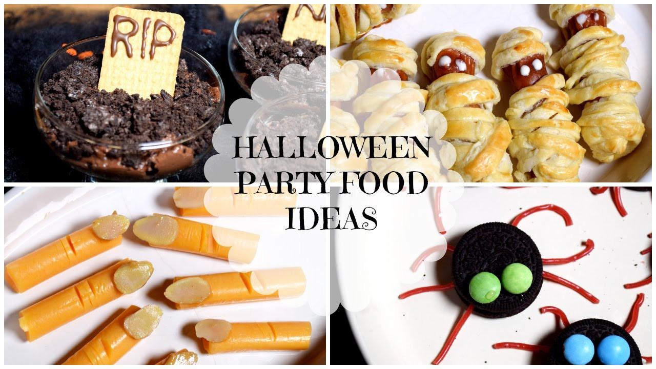 Halloween Party Menu Ideas  Easy & Quick Halloween Party Food Ideas