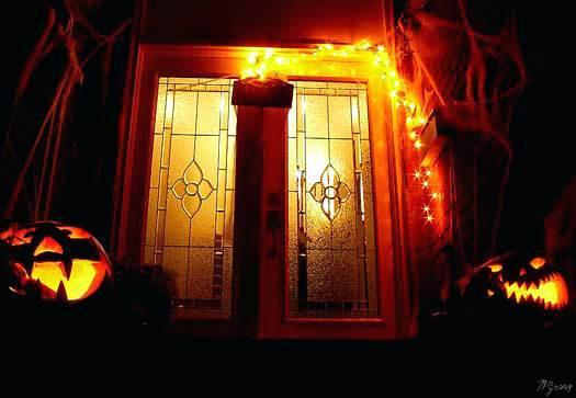 Halloween Porch Greeters  halloween porch