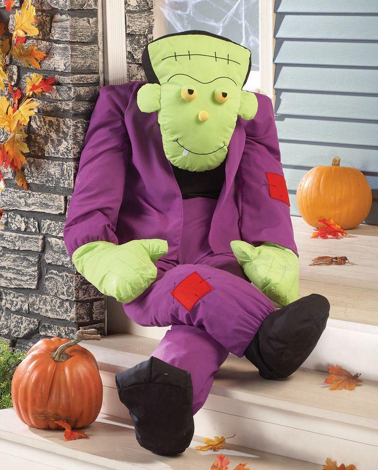 Halloween Porch Greeters  Frankenstein Monster Stuffable Halloween Greeter Figure