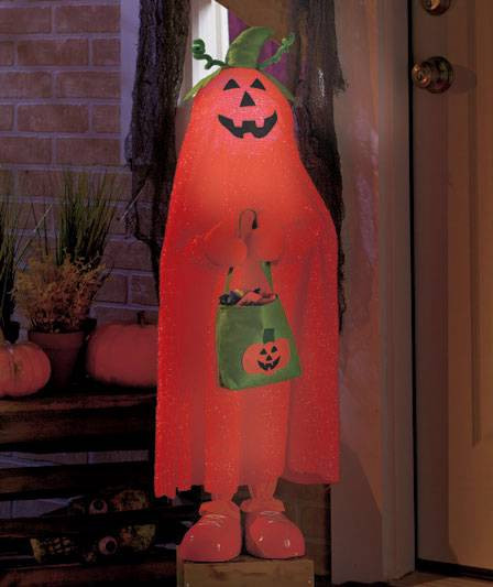 Halloween Porch Greeters  NEW Halloween Color Changing Trick or Treaters Porch