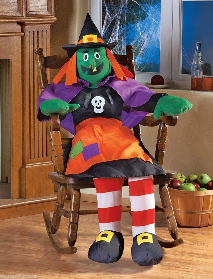 Halloween Porch Greeters  Stuffing Witch Halloween Decor Grocery Bag Greeter Porch