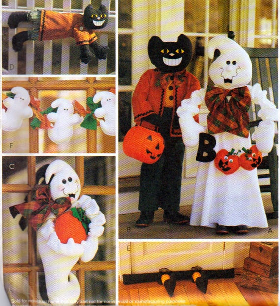 Halloween Porch Greeters  Halloween Front POrch or Yard Decorations Porch Greeter Ghost