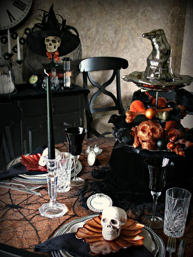 Halloween Table Settings  Modern Furniture Spooky Halloween Table Settings and