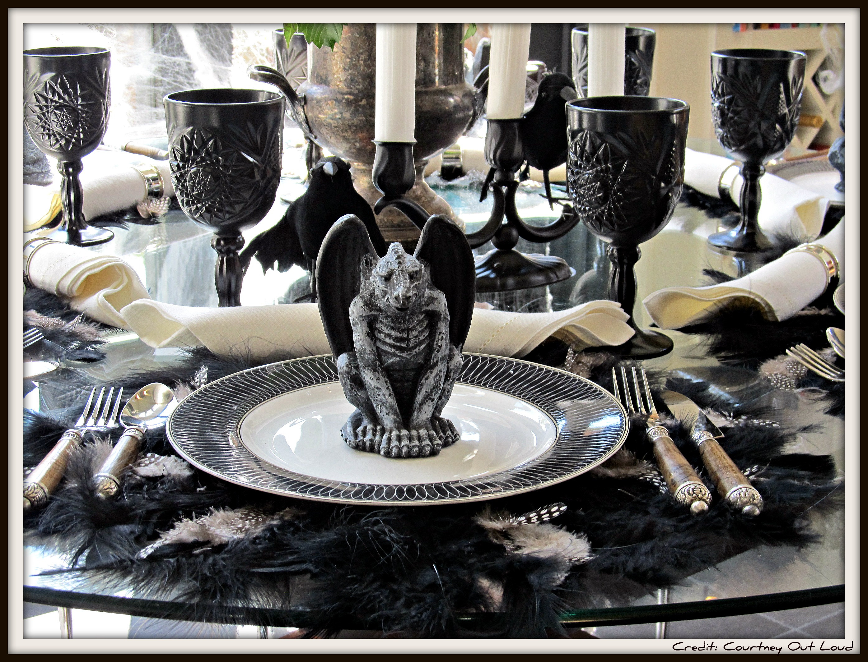 Halloween Table Settings  Vignette Week Halloween Tablescape…