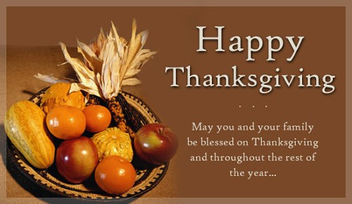 Happy Thanksgiving Blessings Quotes  Happy Thanksgiving Wishes for Family And Friends