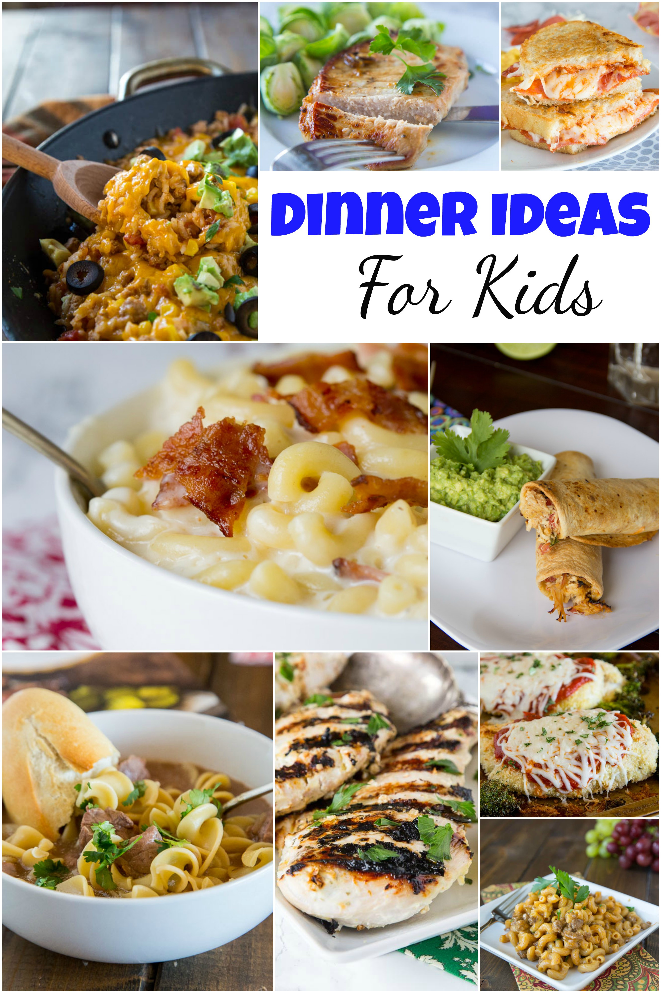 Ideas For Kids  Dinner Ideas for Kids Dinners Dishes and Desserts