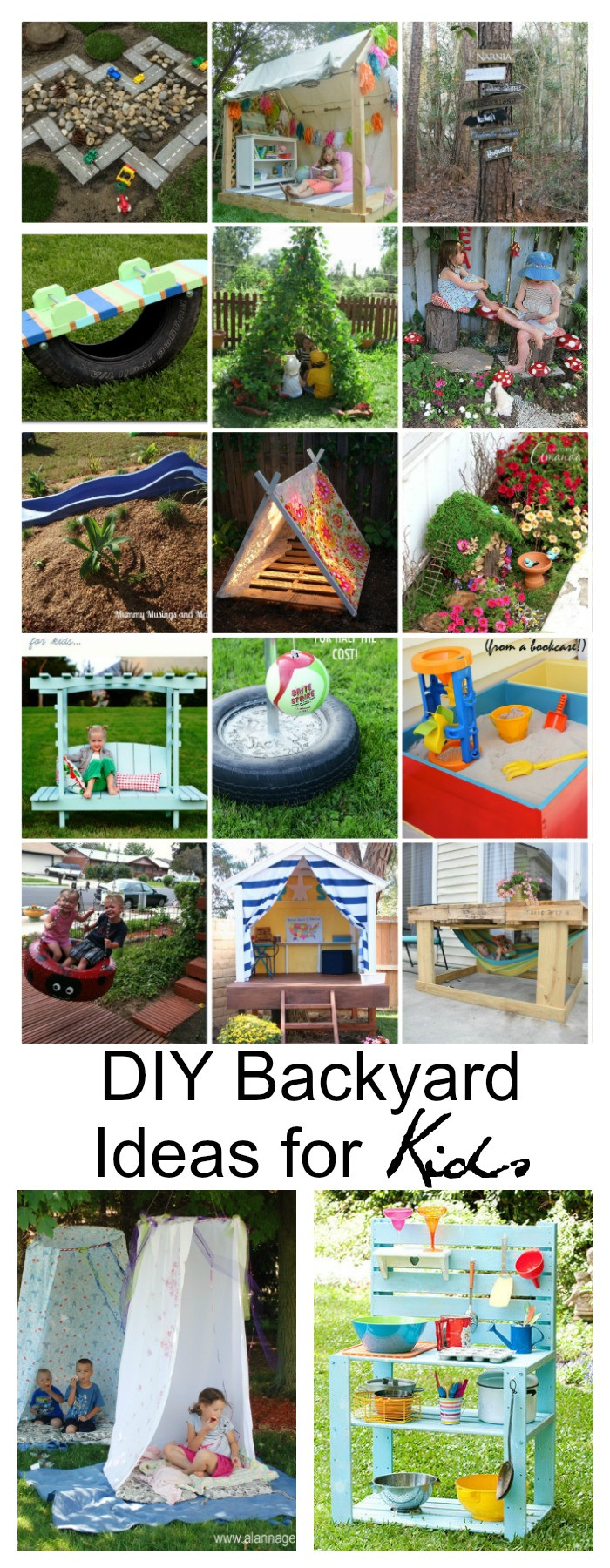 Ideas For Kids  DIY Backyard Ideas for Kids The Idea Room