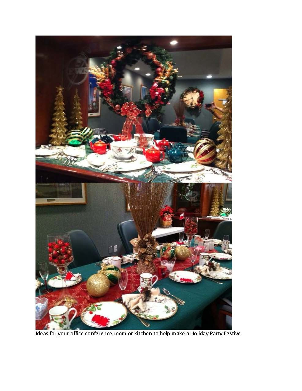 Ideas For Office Christmas Party  Some ideas to turn your office conference room or kitchen
