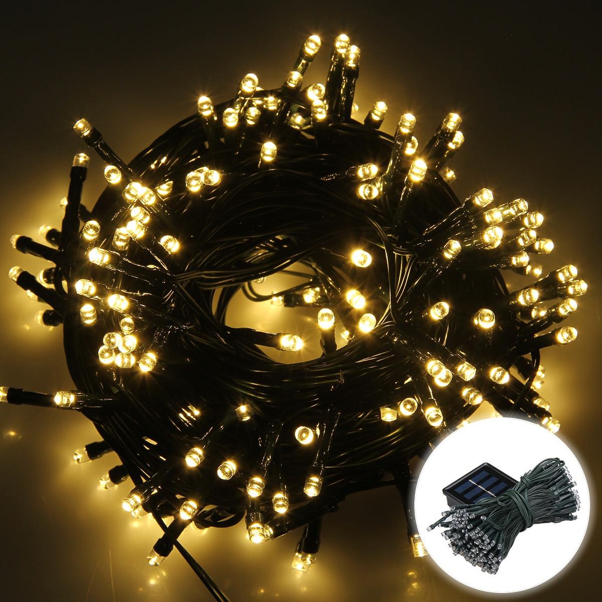 Indoor Outdoor Christmas Light  200 LED Christmas Xmas Tree Fairy String Lights Outdoor