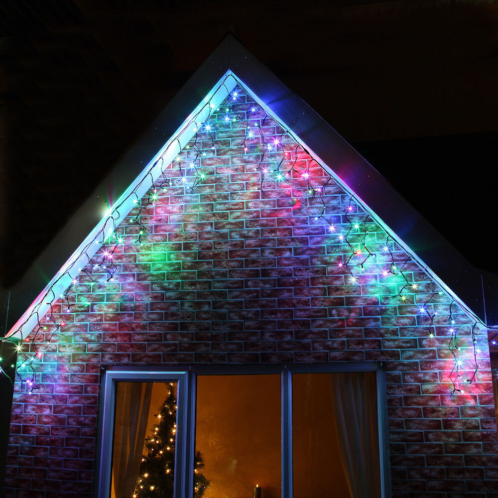 Indoor Outdoor Christmas Light  INDOOR OUTDOOR PLUG CONNECTABLE CHRISTMAS PARTY ICICLE