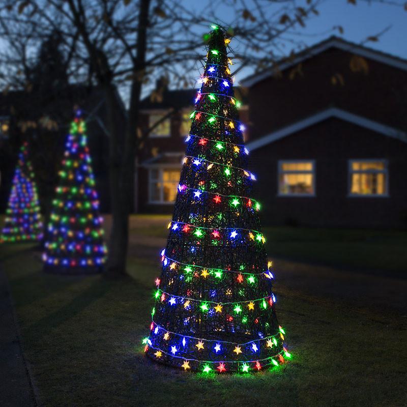 Indoor Outdoor Christmas Light  Luxury Indoor Outdoor Rattan Christmas Xmas Tree Cone