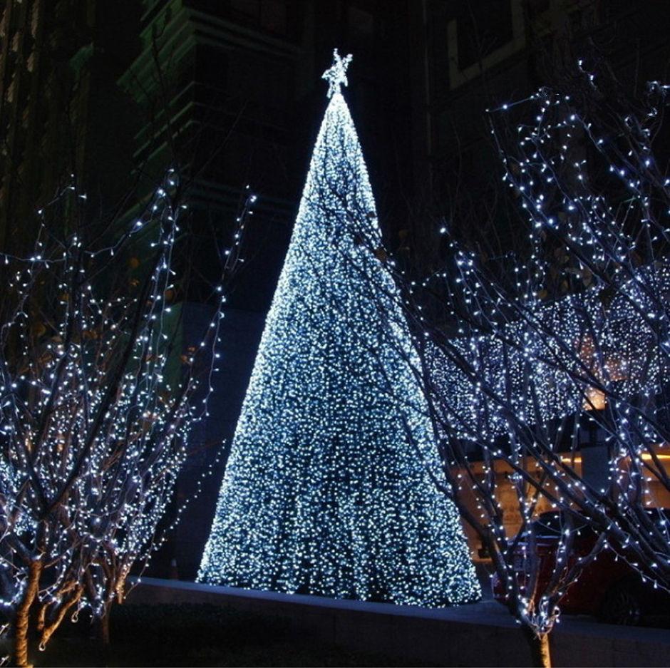 Indoor Outdoor Christmas Light  Cool White Solar Powered String Lights Lamp Indoor Outdoor
