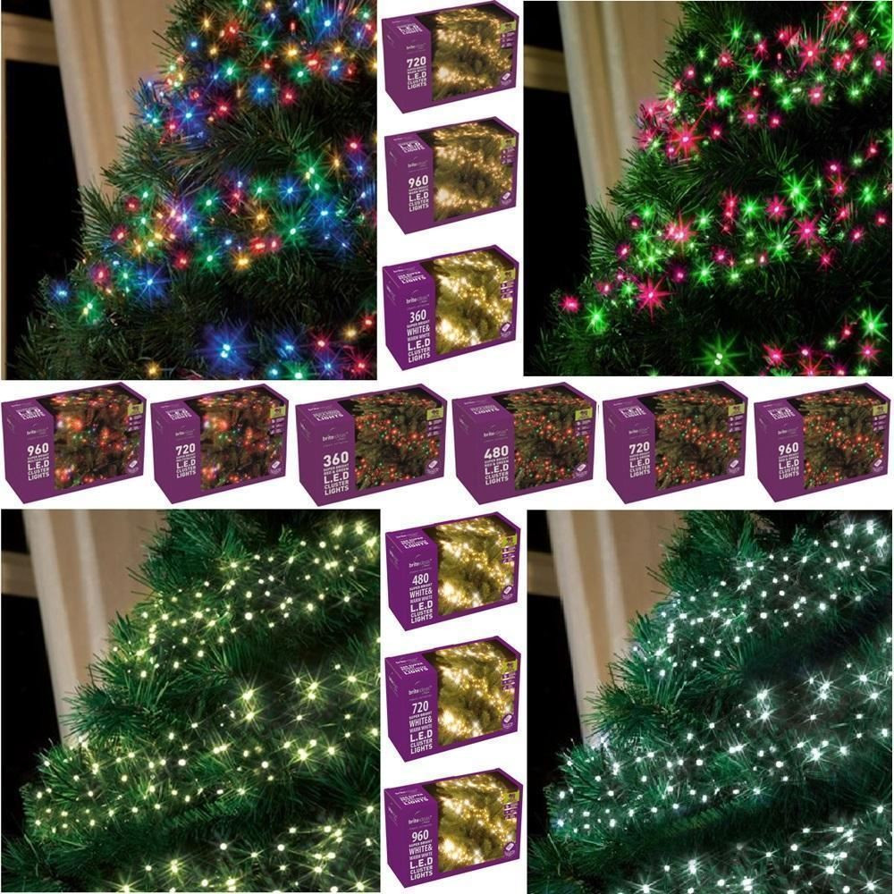 Indoor Outdoor Christmas Light  RED GREEN MULTI ACTION LED CLUSTER LIGHTS CHRISTMAS TREE