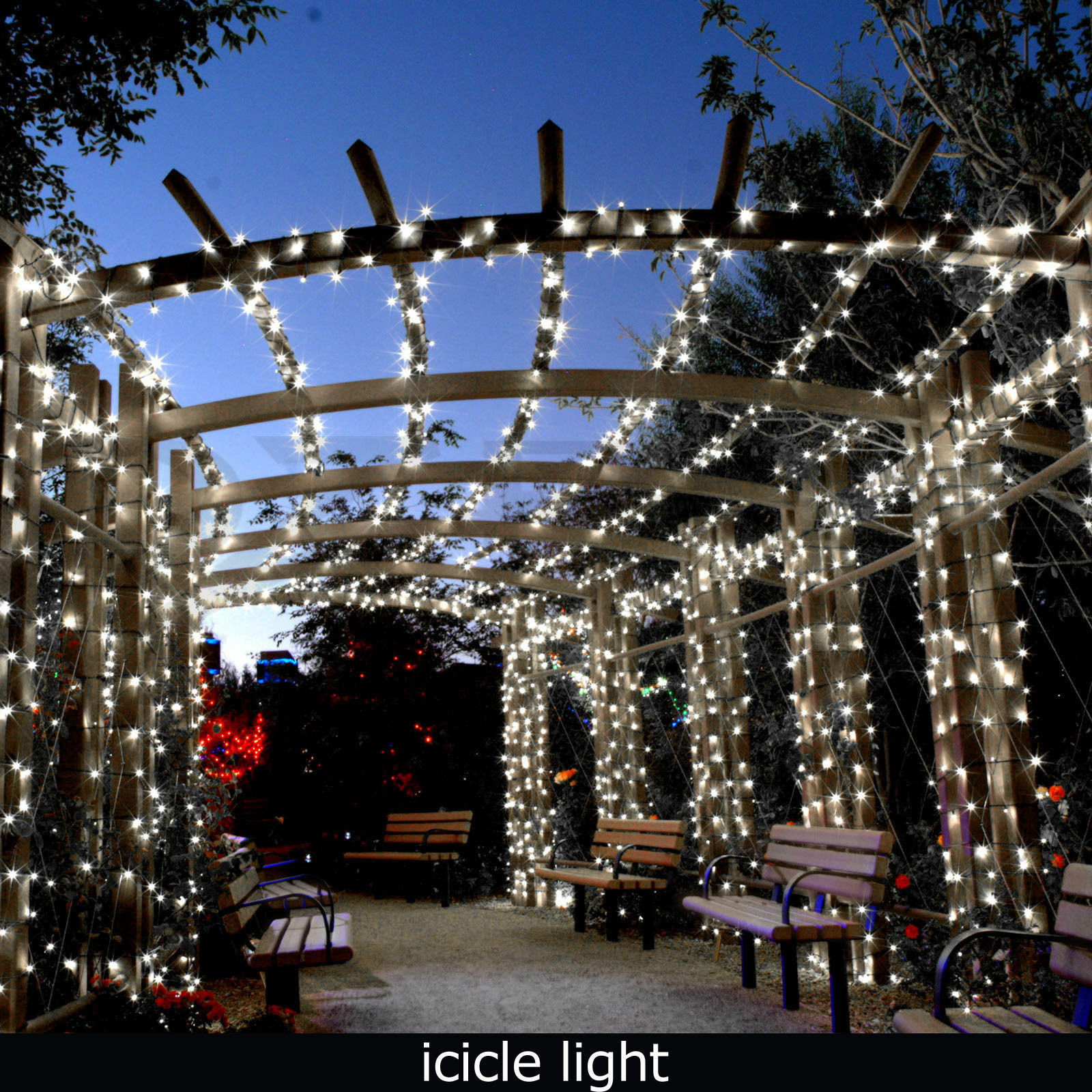 Indoor Outdoor Christmas Light  24M 960 LED Bright White Snowing Icicle Lights Indoor