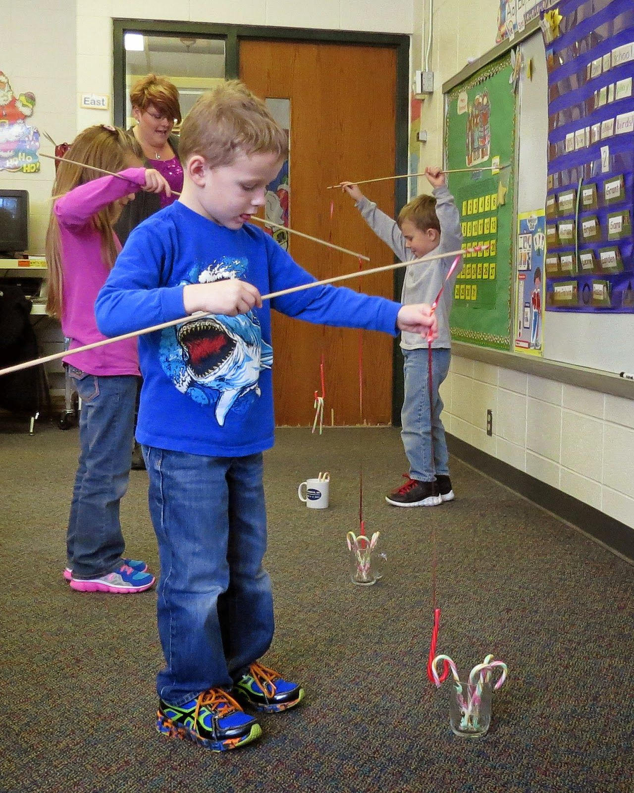 Kindergarten Christmas Party Ideas  Candy cane fishing …