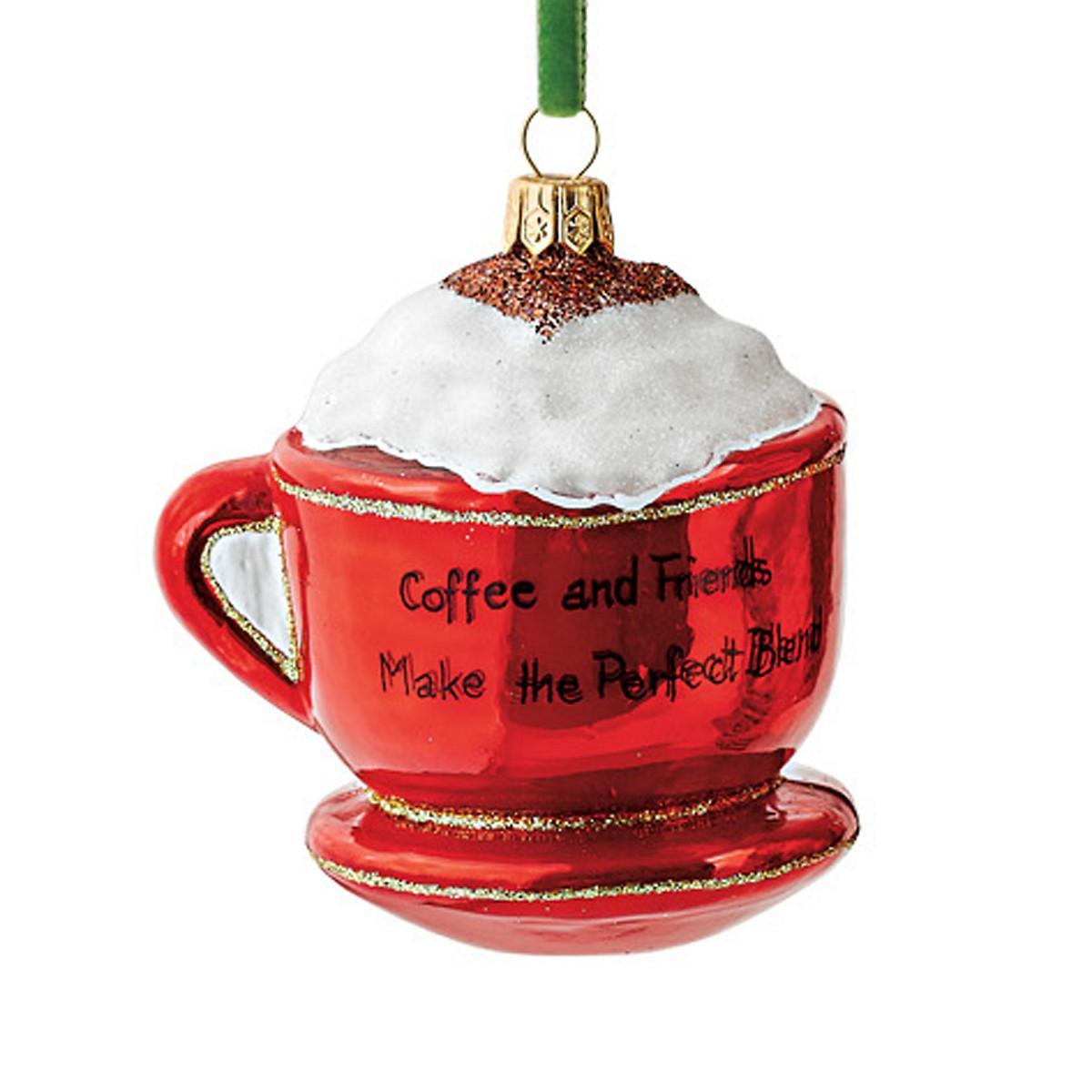 Kitchen Christmas Ornament  Santa s In The Kitchen Cappuccino Cup Christmas Ornament