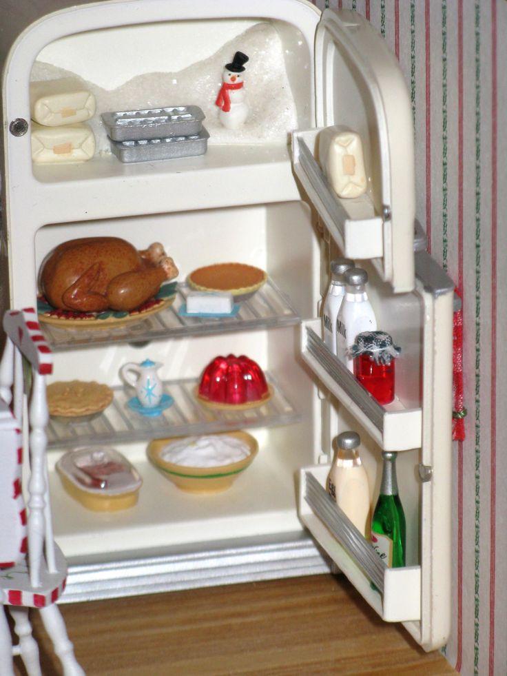 Kitchen Christmas Ornament  Christmas Kitchen The refrigerator is a Hallmark