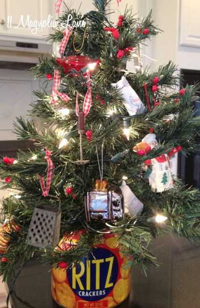 Kitchen Christmas Ornament  Christmas Vignettes and my Laundry Room & Christmas Trees
