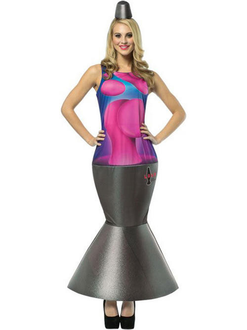 Lamp Halloween Costume  Adult e Size Lava Lamp Fancy Dress Costume Glow Light