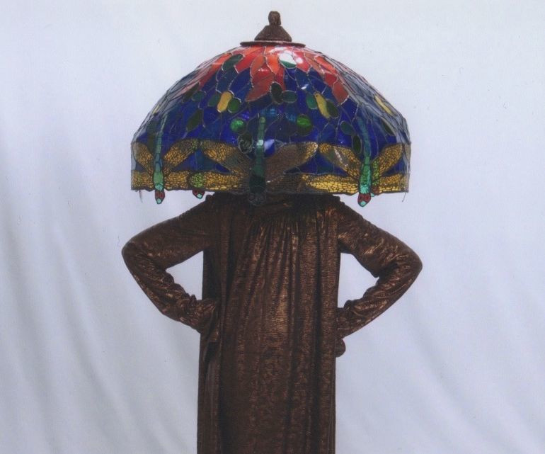 Lamp Shade Halloween Costume  Tiffany Lamp Costume 1