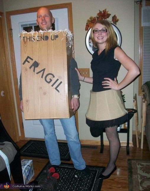 Lamp Shade Halloween Costume  A Christmas Story Leg Lamp & Box Couple s Costume