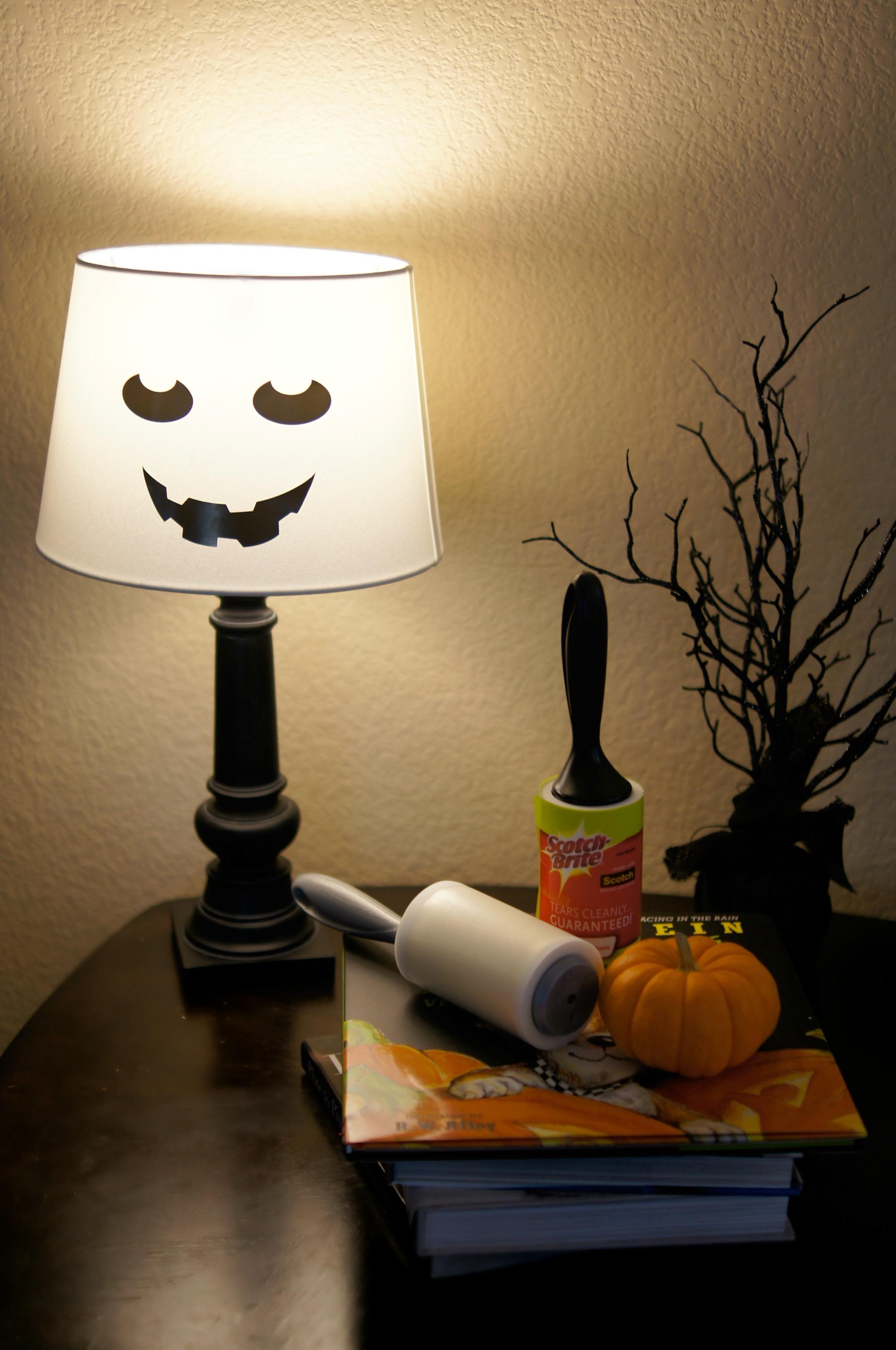 Lamp Shade Halloween Costume  Easy DIY Spooky Halloween Lamp Tutorials Not Quite