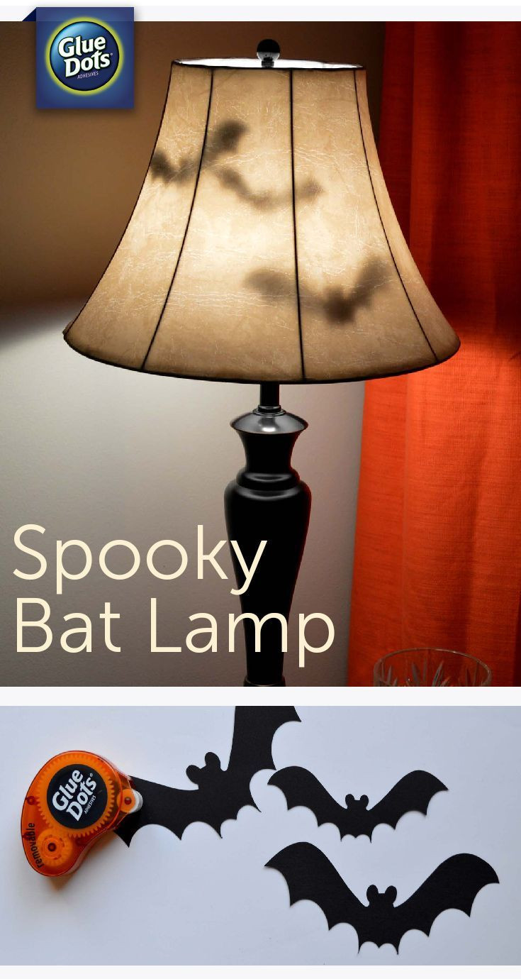 Lamp Shade Halloween Costume  Make a Bat Lamp Halloween Decoration for your home with