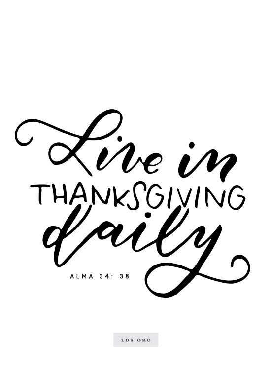 Lds Thanksgiving Quotes  Thanksgiving