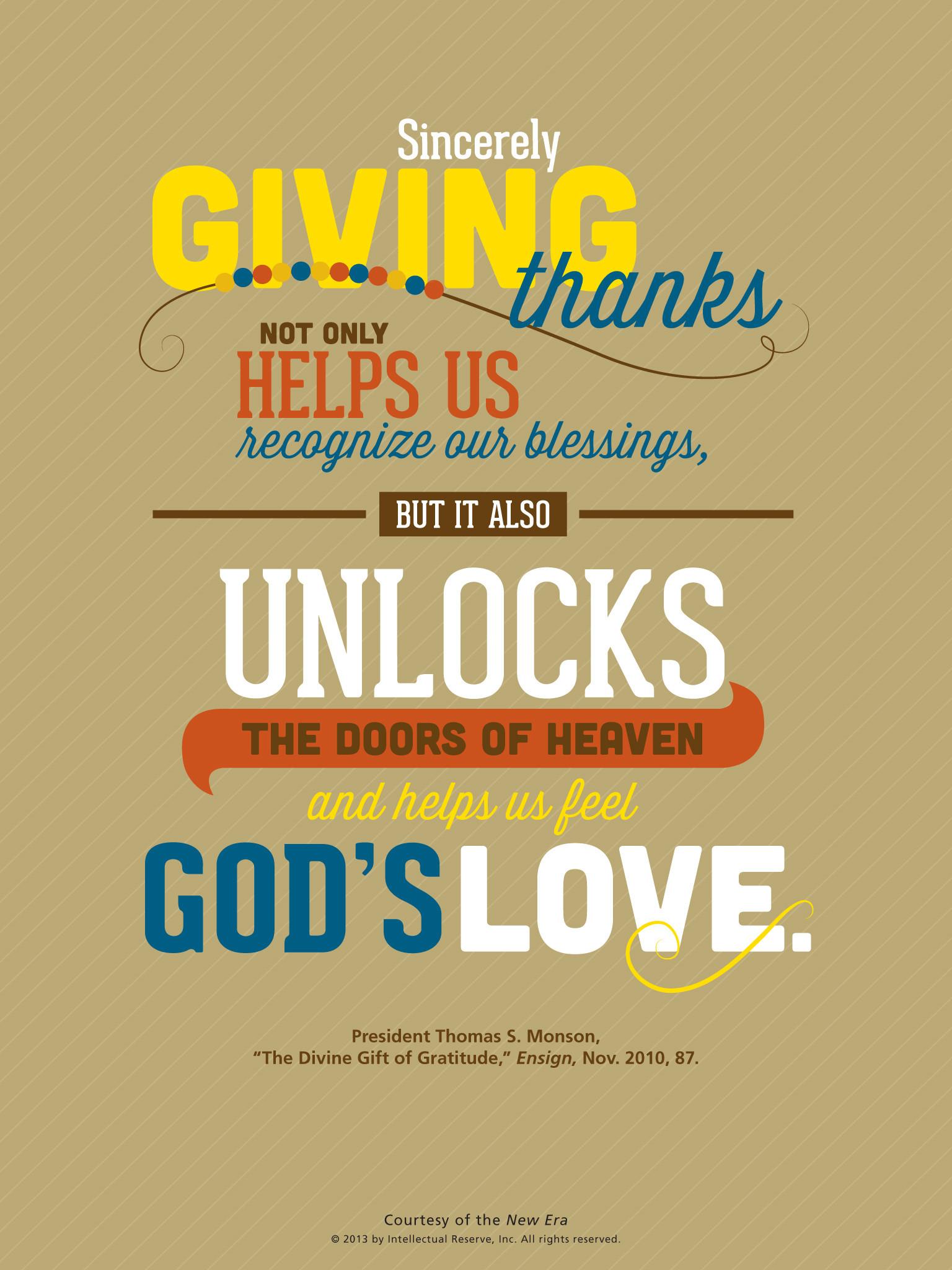 Lds Thanksgiving Quotes  Lds Thanksgiving Quotes – Thanksgiving Blessings