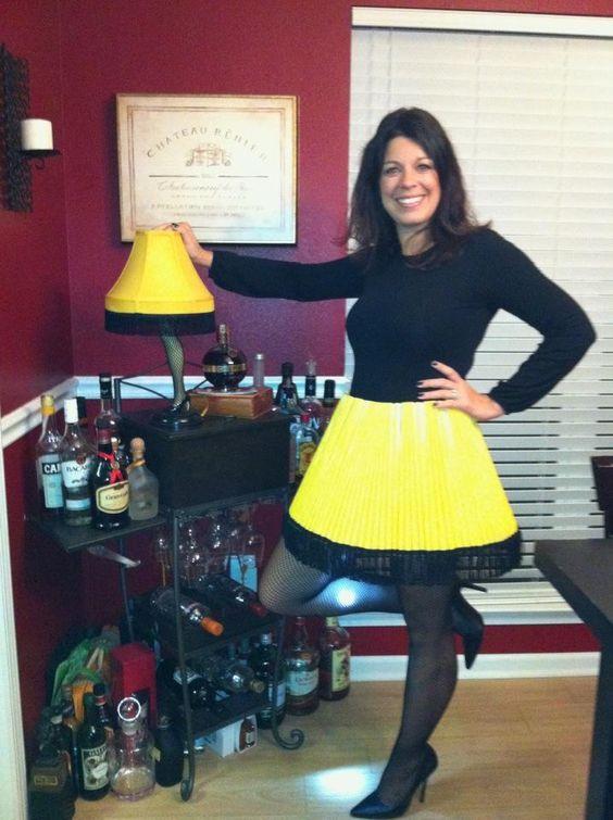"""Leg Lamp Halloween Costume  Easy """"Christmas Story"""" leg lamp costume"""