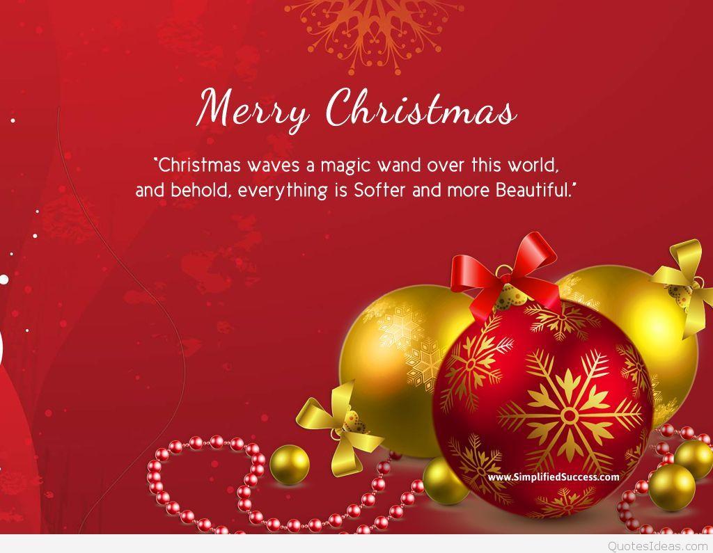 Merry Christmas Quotes  Merry Christmas Quotes on Card