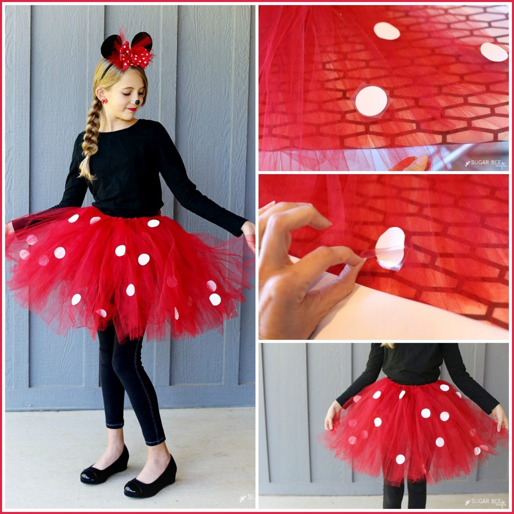 Minnie Mouse DIY Costume  DIY Minnie Mouse Costume yep NO sew Sugar Bee Crafts