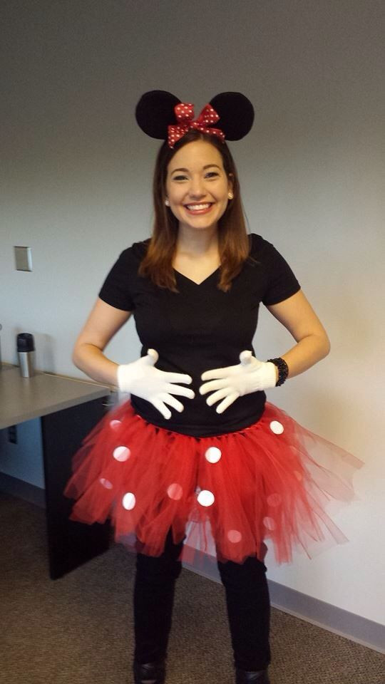 Minnie Mouse DIY Costume  Easy DIY Minnie Mouse costume DIY red tulle tutu with