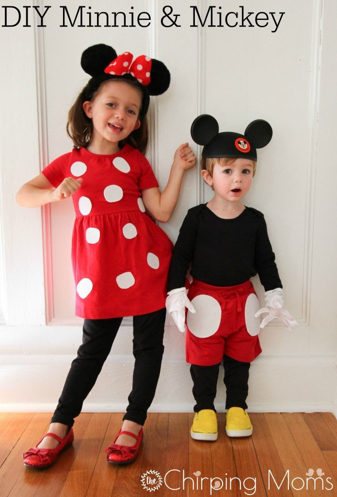Minnie Mouse DIY Costume  15 Easy DIY Halloween Costumes for Babies and Kids