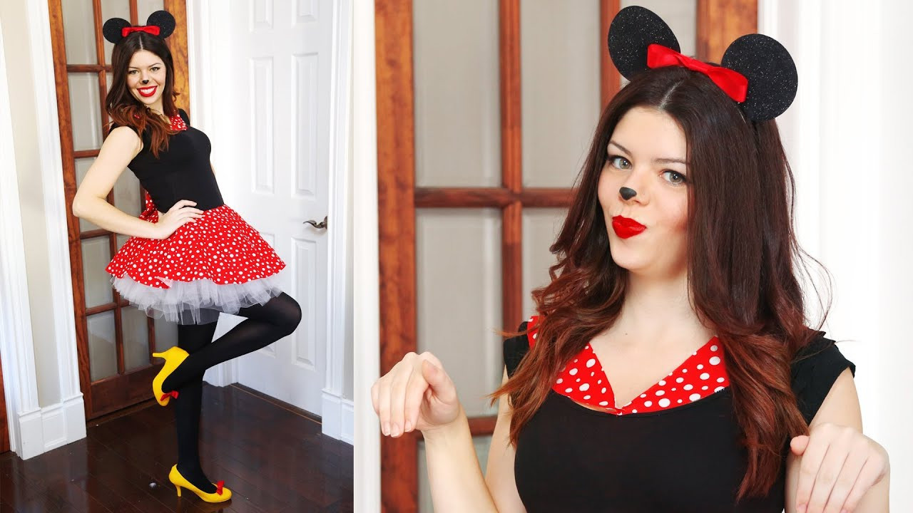 Minnie Mouse DIY Costume  DIY MINNIE MOUSE HALLOWEEN COSTUME NO SEW