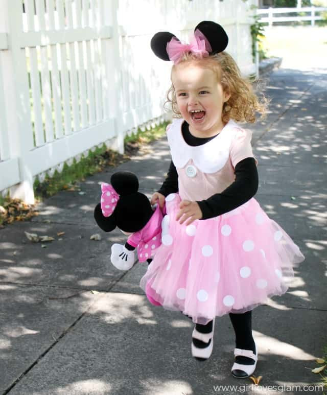 Minnie Mouse DIY Costume  DIY No Sew Minnie Mouse Costume Girl Loves Glam