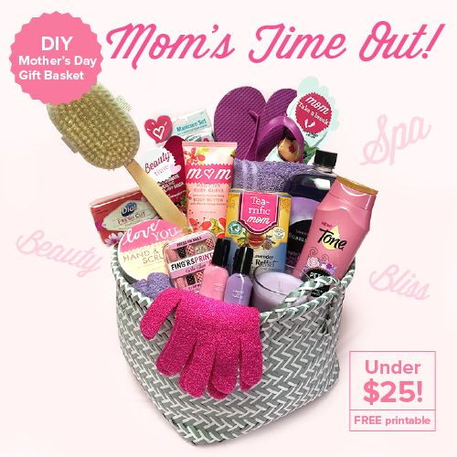 Mothers Day Gift Basket Ideas  DIY Mother's Day Gift Basket – Mom's Time Out Under $25