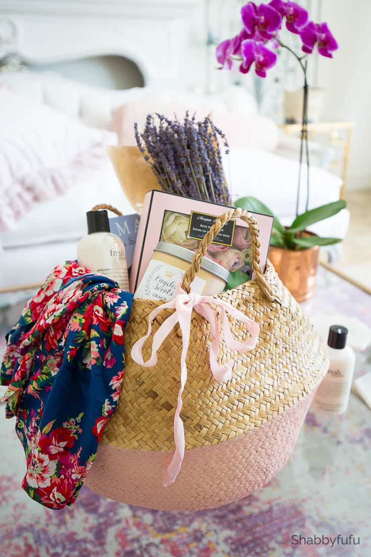 Mothers Day Gift Basket Ideas  Mother s Day Gift Basket Ideas Spa At Home shabbyfufu