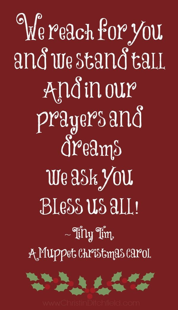 Muppet Christmas Carol Quotes  Bless Us All Tiny Tim A Muppet Christmas Carol