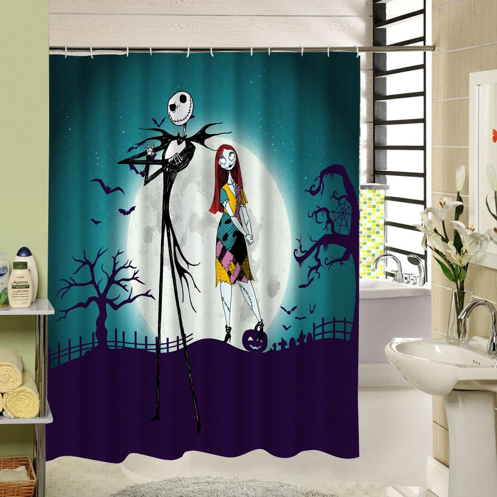 Nightmare Before Christmas Bathroom  2019 Waterproof Halloween Shower Curtain Nightmare Before